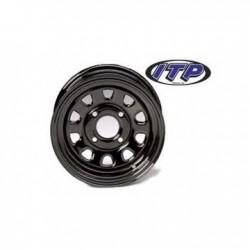 Steel Wheel Front Black-Kawasaki Mule 550 600 610