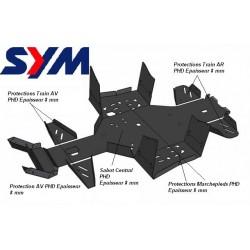 Protection Skid Plate FULL KIT Plastic Sym - 600 Quadraider