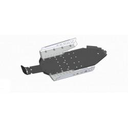 Skid Plate Plastic Aluminium Polaris RZR 900 XP