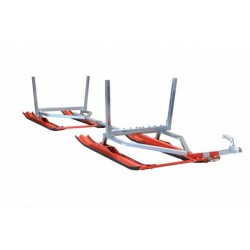 Remorque Traineau avec Skis pour Charges Longues Motoneige -Quad