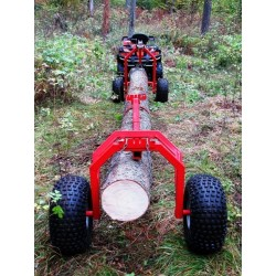 ATV SSV Log Hauler-Rear Support Part-Electric Winch