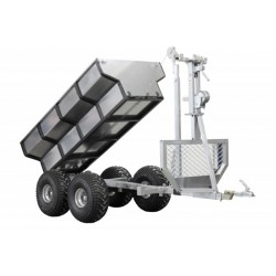 ATV SSV Timber Trailer Cargo Box Crane