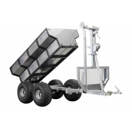 ATV SSV Timber Trailer Cargo Box Crane