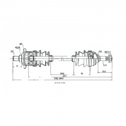 Arctic Cat Complete CV Shaft Front Rear-400 FIS-400 TBX-400-500 FIS TBX TRV