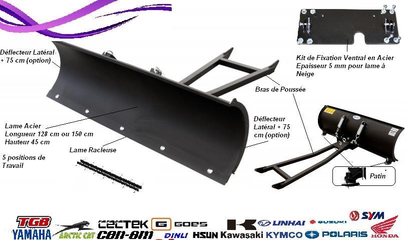 Lame à Neige Kit de Fixation Bras de poussée Quad SSV